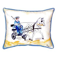 Carriage & Horse Small Indoor/Outdoor Pillow 11X14