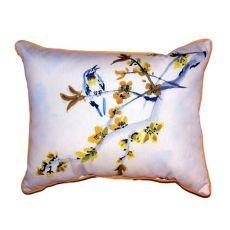 Bird & Forsythia Small Indoor/Outdoor Pillow 11X14