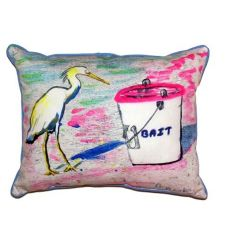 Hungry Egret Small Indoor/Outdoor Pillow 11X14