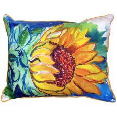 Windy Sunflower Small Indoor/Outdoor Pillow 11X14