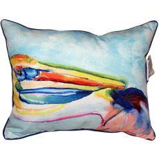 Pelican Head Small Indoor/Outdoor Pillow 11X14