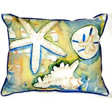 Beach Treasures Small Indoor/Outdoor Pillow 11X14