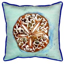 Sand Dollar - Teal Small Indoor/Outdoor Pillow 12X12