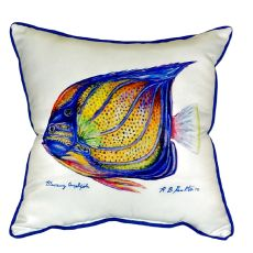 Blue Ring Angelfish Small Indoor/Outdoor Pillow 12X12