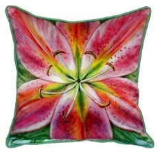 Pink Lily Small Indoor/Outdoor Pillow  12X12