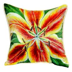 Yellow Lily Small Indoor/Outdoor Pillow 12X12