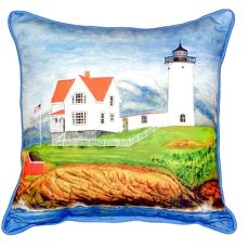 Nubble Lighthouse Small Indoor/Outdoor Pillow 11X14