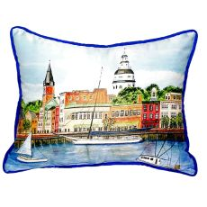 Annapolis City Dock Small Indoor/Outdoor Pillow 11X14
