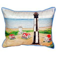 Cape Henry Lighthouse Small Indoor/Outdoor Pillow 11X14