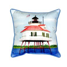 Drum Point Lighthouse Small Indoor/Outdoor Pillow 12X12