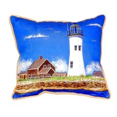 Scituate Ma Lighthouse Small Indoor/Outdoor Pillow 11X14