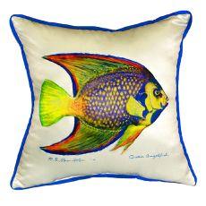 Queen Angelfish Small Indoor/Outdoor Pillow 12X12