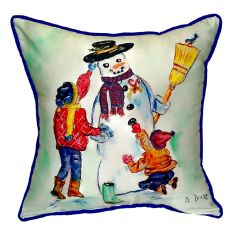 Snowman Small Indoor/Outdoor Pillow 12X12