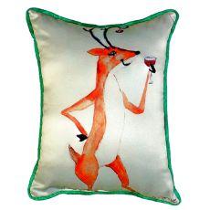 Deer Party Small Indoor/Outdoor Pillow 11X14