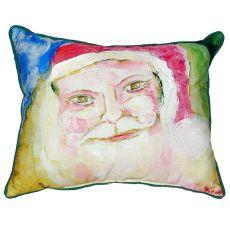 Santa Face Small Indoor/Outdoor Pillow 12X12