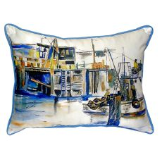Fishing Boat Small Indoor/Outdoor Pillow 11X14