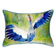 Dancing Crane Small Indoor/Outdoor Pillow 11X14