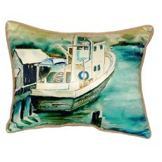 Oyster Boat Small Indoor/Outdoor Pillow 11X14