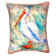 Pelican On Rice Small Indoor/Outdoor Pillow 11X14