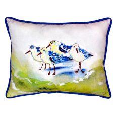 Green Sanderlings Small Indoor/Outdoor Pillow 11X14