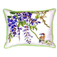 Wisteria & Bird Small Indoor/Outdoor Pillow 11X14