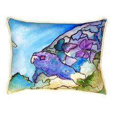 Purple Turtle Small Indoor/Outdoor Pillow 11X14