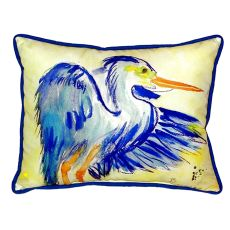 Teal Blue Heron Small Indoor/Outdoor Pillow 11X14