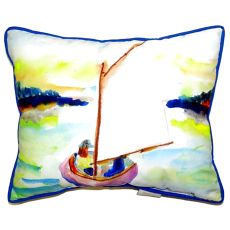 Pink Sailboat Small Indoor/Outdoor Pillow 11X14