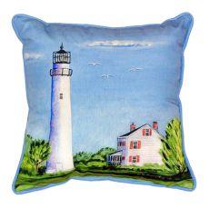 Fenwick Island Light House Indoor/Outdoor Pillow 12X12