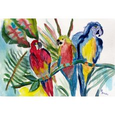 Parrot Family Outdoor Wall Hanging 24X30