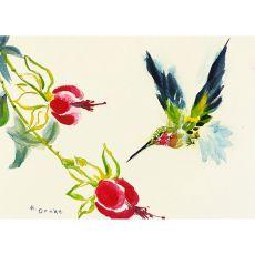 Betsy'S Hummingbird Outdoor Wall Hanging 24X30