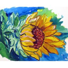 Windy Sunflower Outdoor Wall Hanging 24X30