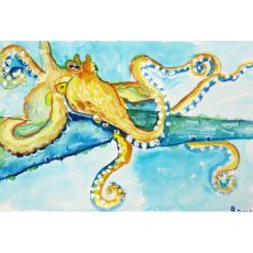 Gold Octopus Outdoor Wall Hanging 24X30