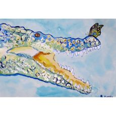 Croc & Butterfly Outdoor Wall Hanging 24X30