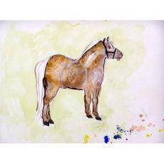 Shetland Pony Outdoor Wall Hanging 24X30