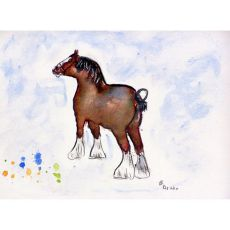 Clydesdale Outdoor Wall Hanging 24X30