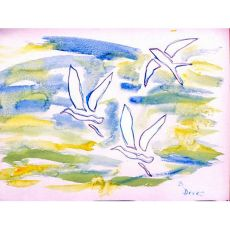 Three Gulls Outdoor Wall Hanging 24X30