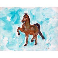 Dancing Horse Outdoor Wall Hanging 24X30
