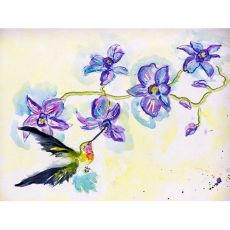 Hummingbird & Clematis Outdoor Wall Hanging 24X30