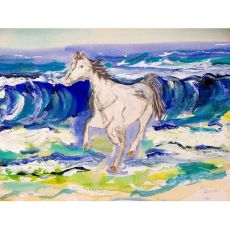 Horse & Surf Outdoor Wall Hanging 24X30