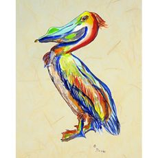 Sylvester Pelican B Outdoor Wall Hanging 24X30