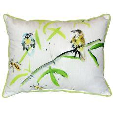 Birds & Bees I Extra Large Zippered Pillow 20X24