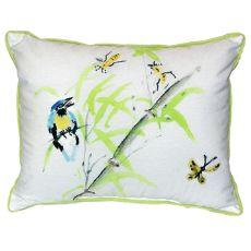 Birds & Bees Ii Extra Large Zippered Pillow 20X24