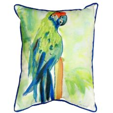 Green Parrot Extra Large Zippered Pillow 20X24