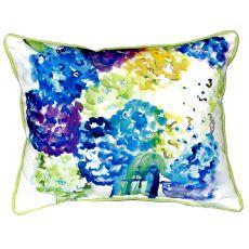 Betsy'S Hydrangea Extra Large Zippered Pillow 20X24