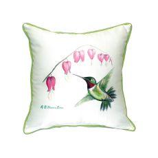 Hummingbird Extra Large Zippered Pillow 22X22