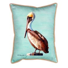 Pelican - Teal Extra Large Zippered Pillow 20X24