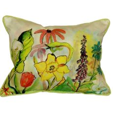 Betsy'S Garden Extra Large Zippered Pillow 20X24