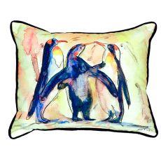 Penguins Extra Large Zippered Pillow 20X24