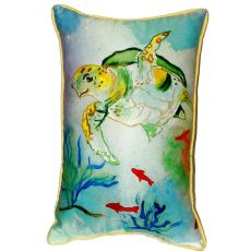 Betsy'S Sea Turtle Extra Large Zippered Pillow 20X24